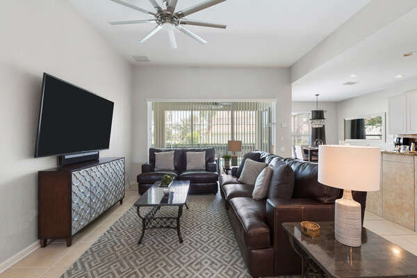 The living area is an open layout