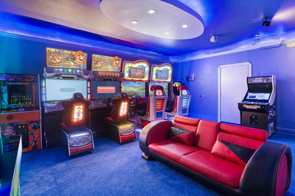 Everyone will have fun playing in this incredible game room
