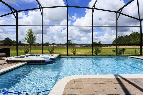 Spend all day poolside enjoying your own pool