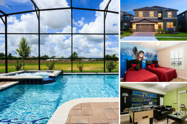 Family Retreat is a beautiful 6 bedroom Championsgate vacation rental home. | PHOTOS TAKEN: June 2014