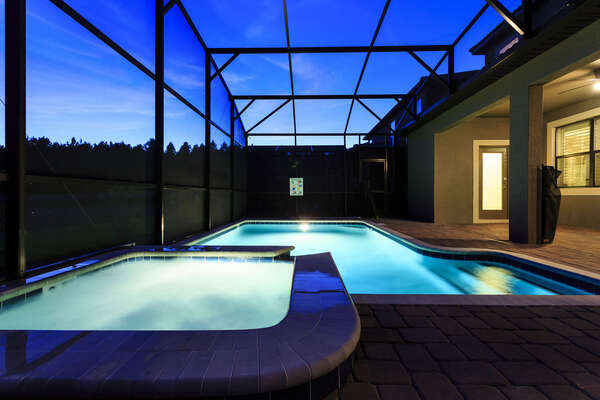 Evenings by your pool are gorgeous and relaxing