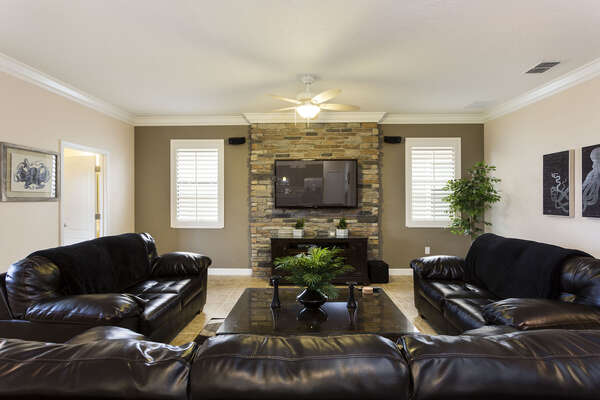 Watch a favorite show together in the family room