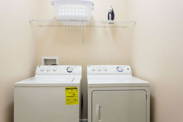 Full size washer and dryer in the home