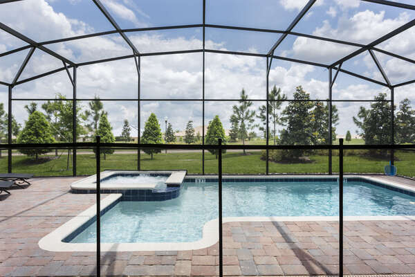 Rest easy knowing the pool safety fence provides extra security