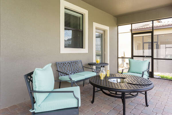 Relax on luxury patio furniture on your private lanai