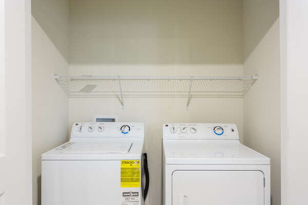 The villa even has a private washer and dryer available for your use