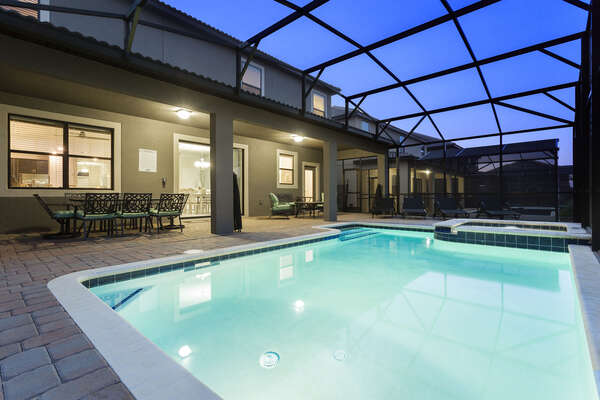 Your own private pool and spillover spa are available to use at any time