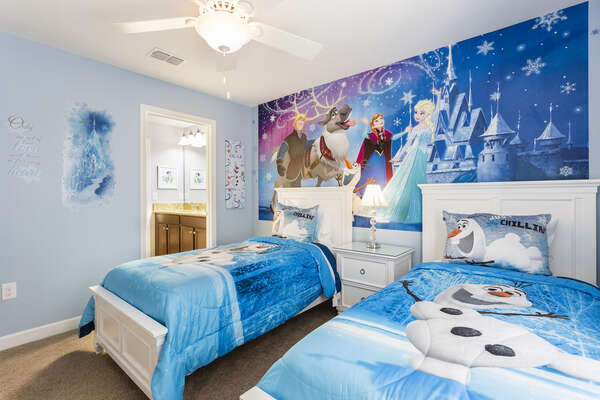 Princesses will love having their own bedroom with two twin beds