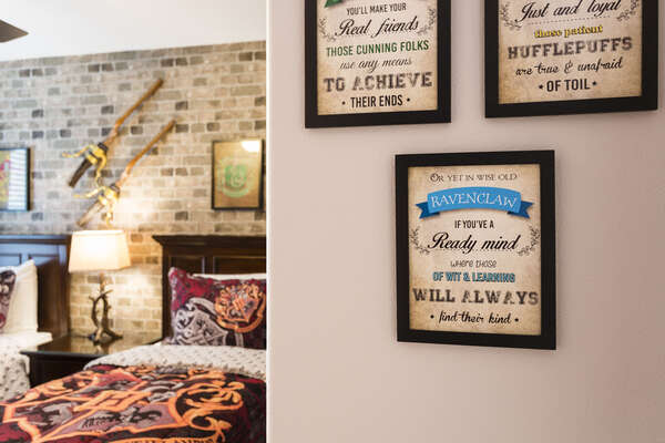 The kids will love the bedroom with special touches throughout
