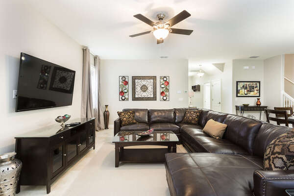 Relax and make unforgettable vacation memories here in the open concept living space