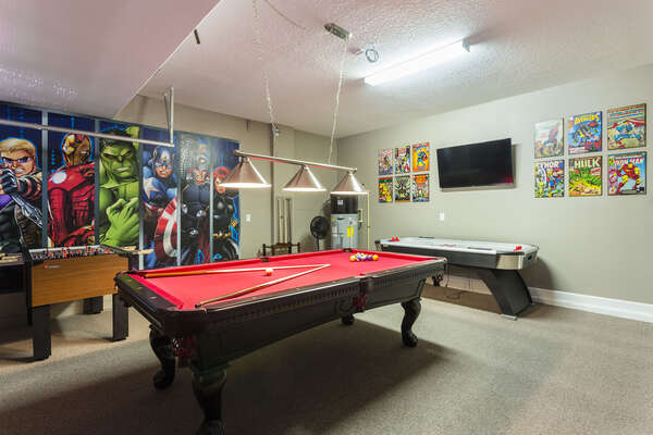 The whole family will love playing all day in the fun game room