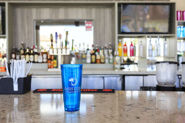 The tiki bar will have everything you need to enjoy a day at the community pool including drinks and food