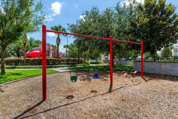The kids will love this big playground