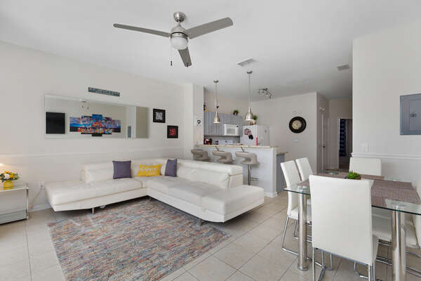 Sink into the comfortable living area seating