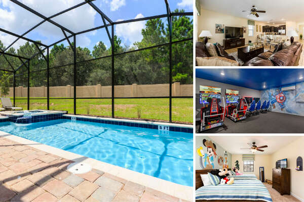 Luxury Villa, a beautiful 7 bedroom vacation home rental in Champions Gate Resort is perfect for your next Orlando family vacation! | PHOTOS UPDATED: March 2020