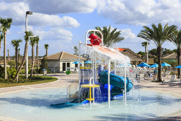 This fantastic splash park is perfect for the smaller ones as you enjoy your family day at the community pool