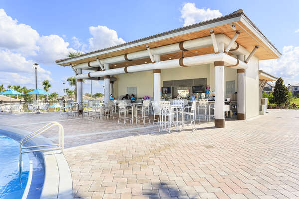 Go grab a drink from the tiki bar and relax as you lounge by the pool