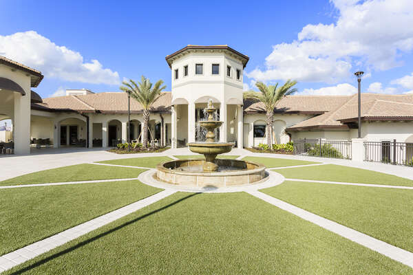 The Champions Gate Resort Clubhouse is full of amenities available to all guests staying within our homes