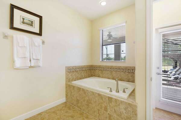 Take a relaxing bath after a long day of hanging out at the Orlando theme parks