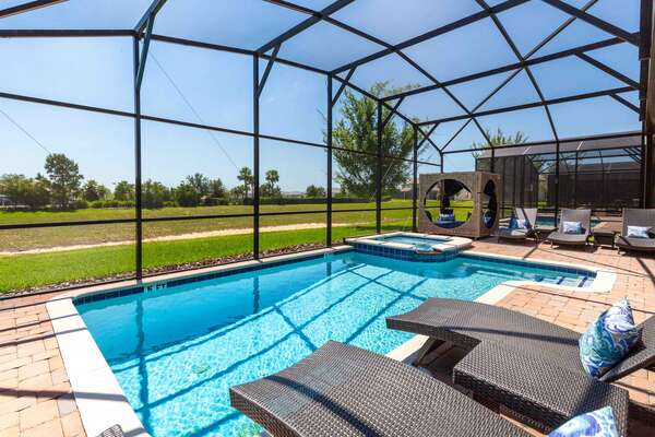 Relax by the pool and soak up the Florida sunshine