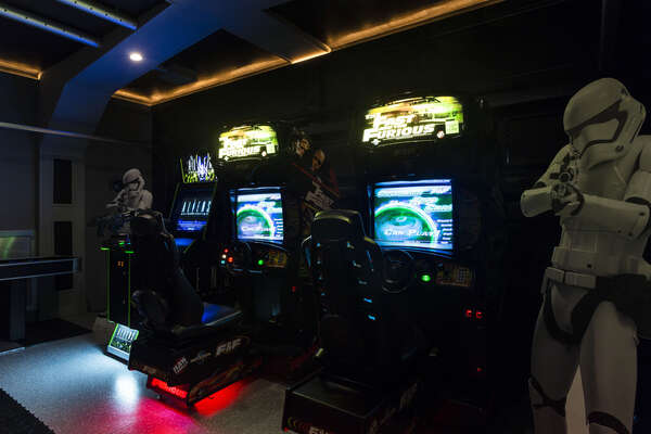 Race head-to-head on the Fast and Furious racing game or save the planet with the Alien Extermination arcade game