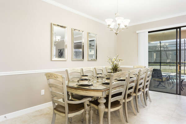 Enjoy meals as a family with seating for 10