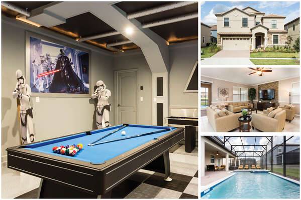 Champions Gate Villa is a beautiful 8 bedroom vacation home featuring everything you could dream of for a fun Championsgate vacation rental home. | PHOTOS TAKEN: June 2017