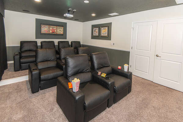 Bring the movies to you in your own private theater room