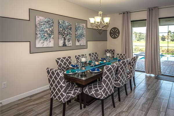 Formal dining area for 7