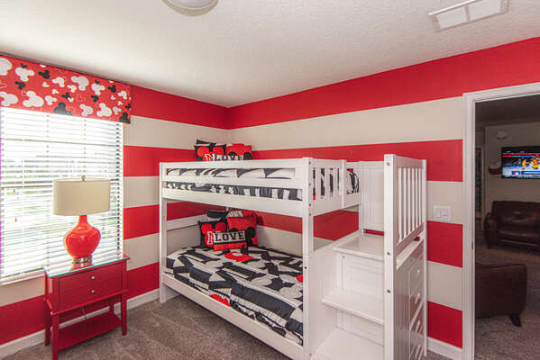 Kids will love picking this room as theirs to relax