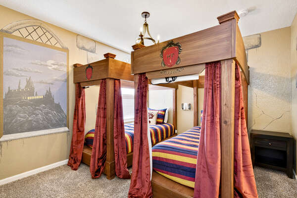 Kids will love this magical bedroom customized just for them with two twin beds