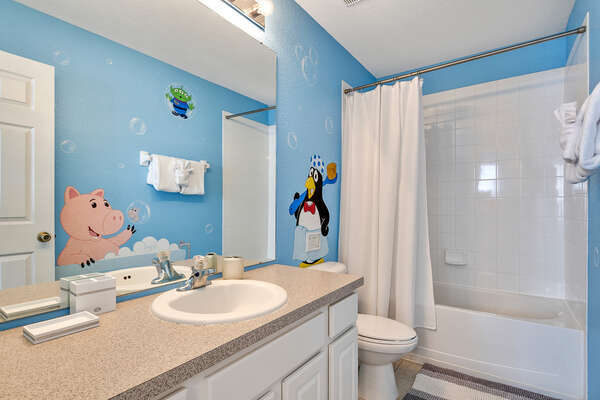 Kids will have their own bathroom