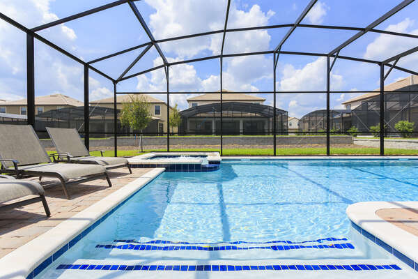 The whole family will love spending time at your own private pool