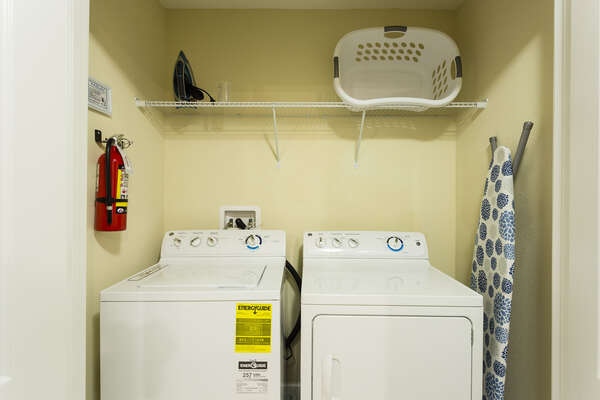 A washer and dryer in the home available for your use in the home