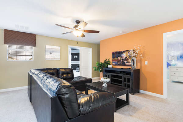 The second floor loft area provides another great place to relax and make family memories
