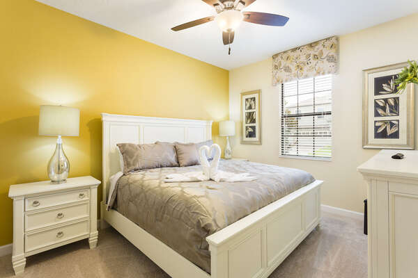 This master suite is also located on the first floor with a king bed