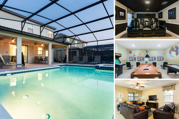 Magical Retreat is an 8 bedroom vacation home rental in Championsgate featuring a private pool, game room, movie theater and more! | PHOTOS TAKEN: June 2017