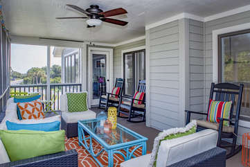 Spend the day the in complete bliss on the second floor screened porch