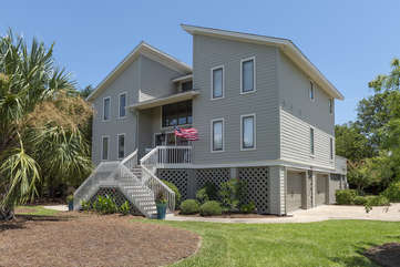 Large corner lot with ample parking and direct beach boardwalk access