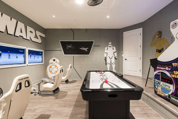 Everyone can enjoy the games room at any time