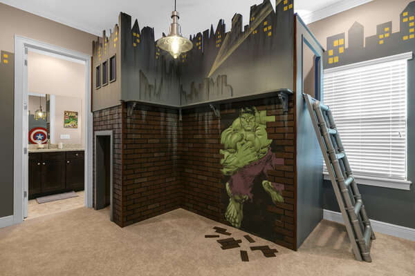 Your superhero will love this custom bunkbed