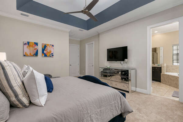 Relax in the privacy of your own master suite