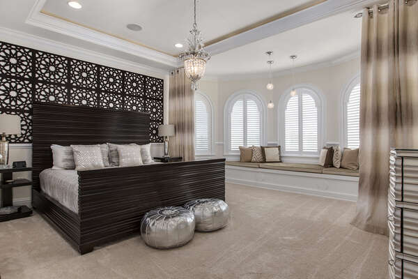 The third floor Dubai Suite with king bed is an amazing room