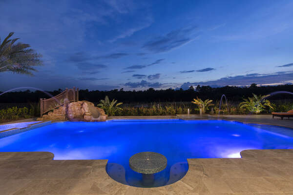 Sunsets are absolutely amazing by this pool