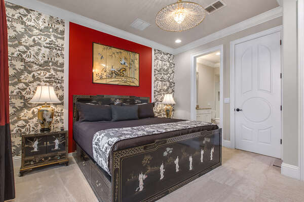 The Beijing Suite located on the second floor is perfectly decorated and has a king bed