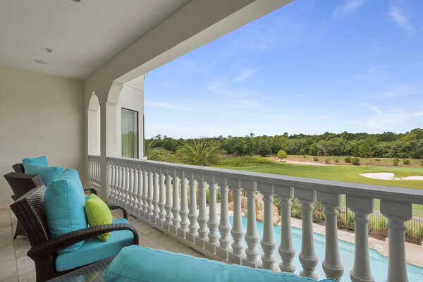 The second floor balcony located by the games room will offer spactacular views over the Reunion Resort