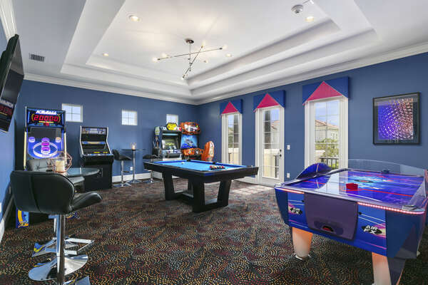 Have a blast in the games room located on the second floor