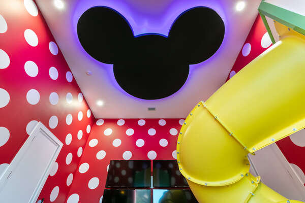 Look up and find an extra special hidden Mickey light
