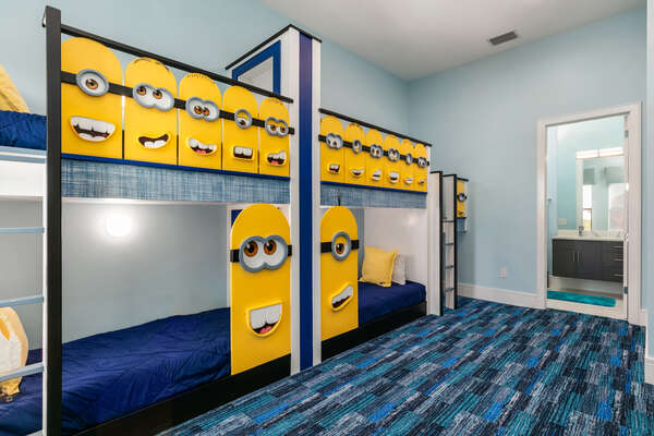 Plenty of space with 4 beds for the little ones