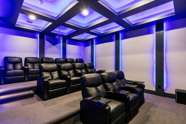 Custom lighting and comfortable recliners